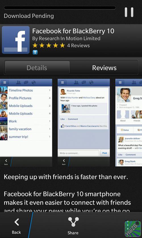 BlackBerry 10: FaceBook, Twitter, Linkedin, WorkDrives! – HWZBB