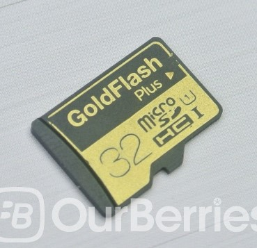 Barun Electronic GoldFlash PLUS microSD front