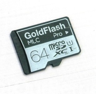 Barun Electronic GoldFlash Pro MicroSD Front
