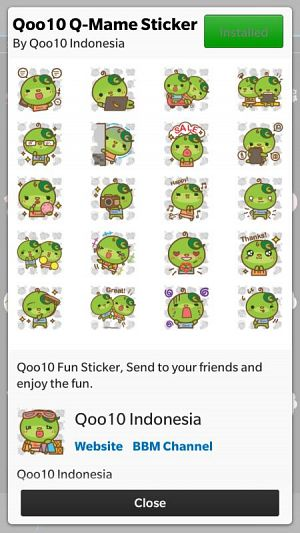 Qoo10 Sticker