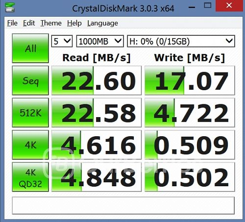 CrystalDiskMark test 3