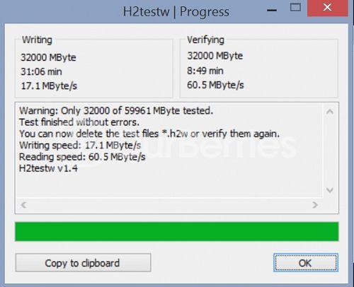 Samsung PRO microSD (Old Model) h2testw
