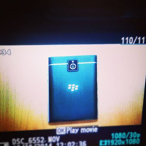 Image Capture of BlackBerry Passport on a Screen