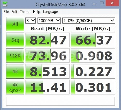 Kingston CL10 UHS-I 90R/45W MicroSD (64GB) [SDCA10] CrystalMarkDisk test 3
