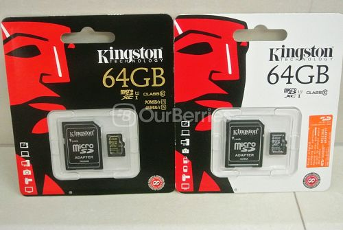 Kingston CL10 UHS-I 90R/45W MicroSD (64GB) [SDCA10] VS Kingston CL10 UHS-I (64GB) [SDCX10]