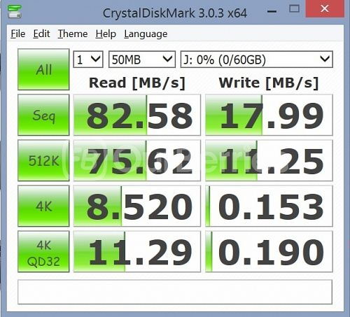 Kingston CL10 UHS-I 90R/45W MicroSD (64GB) [SDCA10] CrystalDiskMark test 2