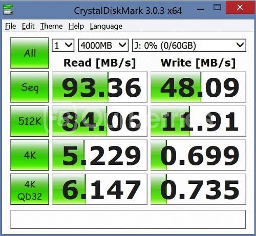 Lexar High-Performance UHS-I 633x MicroSD CrystalDiskMark Test 1