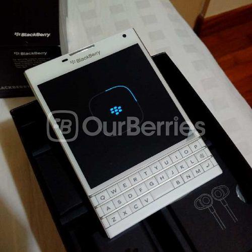 White BlackBerry Passport