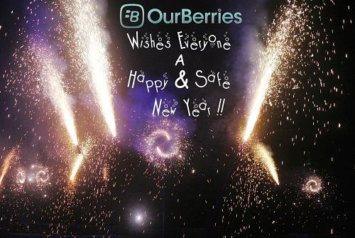 #OurBerries wishing everyone a happy new year!