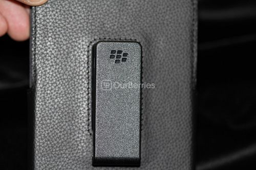 BlackBerry Passport Leather Swivel Holster Back, belt clip