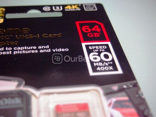 SanDisk Extreme microSDXC UHS-3 Card Speed Label