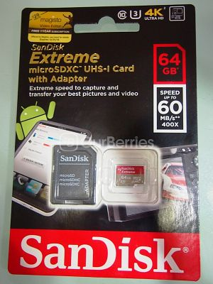 SanDisk Extreme microSDXC UHS-3 Card Retail Front
