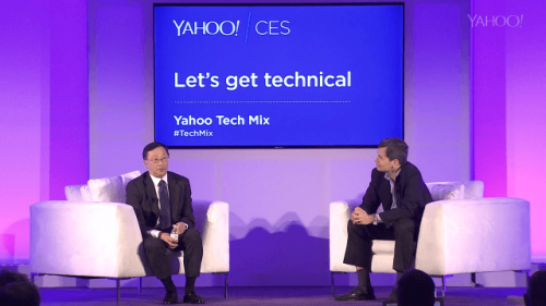 John Chen at CES2015 With Yahoo! on Tech mix