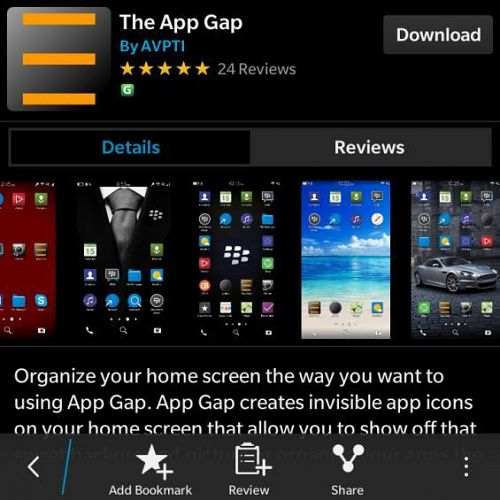 AppGap in BlackBerry World