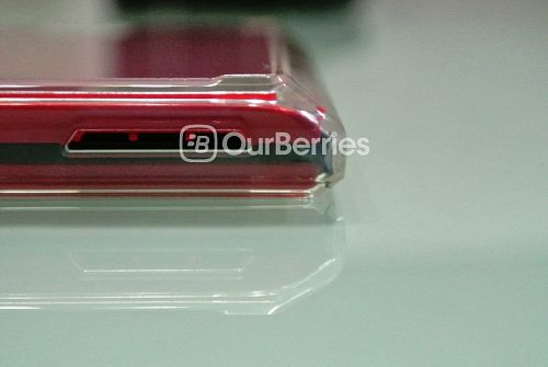 BlackBerry Passport Red in Ringke Fusion Case bottom corner