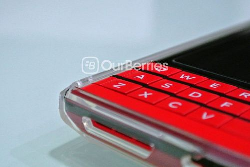 BlackBerry Passport Red in Ringke Fusion Case Front left bottom corner