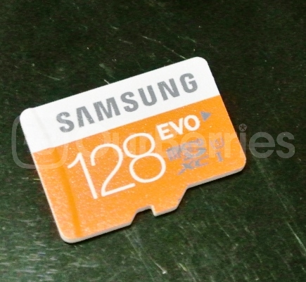 Samsung Evo MicroSD (128GB) Close up front
