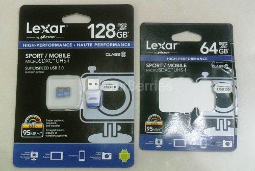 Lexar High-Performance UHS-I 633x microSDXC [128GB vs 64GB] retail packaging