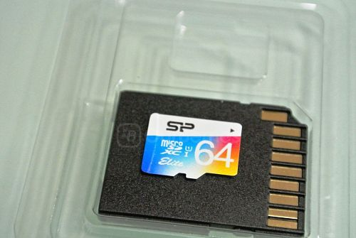Silicon Power 64GB Elite MicroSDXC Card Design Front