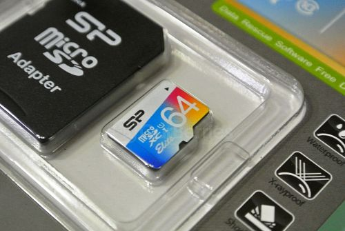 Silicon Power 64GB Elite MicroSDXC memory Card in the packaging
