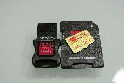 Strontium Nitro Plus UHS-3 microSD (64GB) card with accessories
