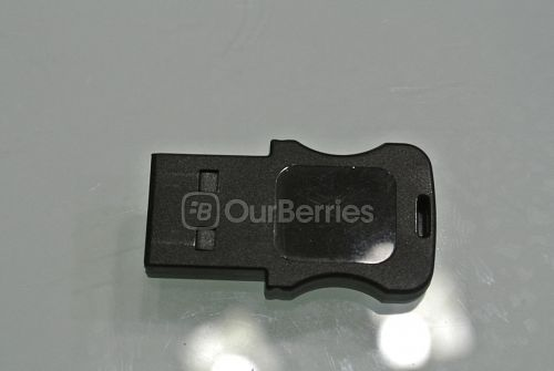 The back of the Strontium USB 2.0 microSD-USB adapter