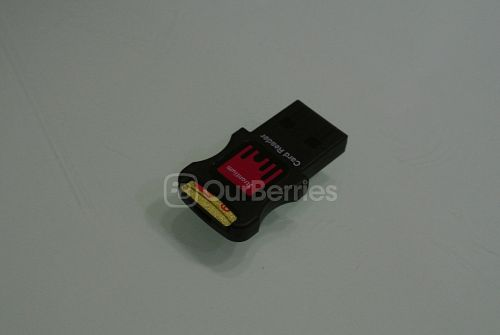 Strontium Nitro Plus UHS-3 microSD (64GB) in the supplied MicroSD USB 2.0 adapter