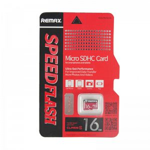 Remax 16GB MicroSDHC retail packaging