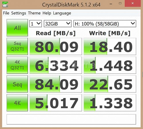 Kingston SDC10G2 microSDXC Updated CrystalDiskMark benchmark 4 - 1 x 32GB