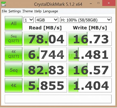 Kingston SDC10G2 microSDXC Updated CrystalDiskMark benchmark 1 - 1 x 4GB