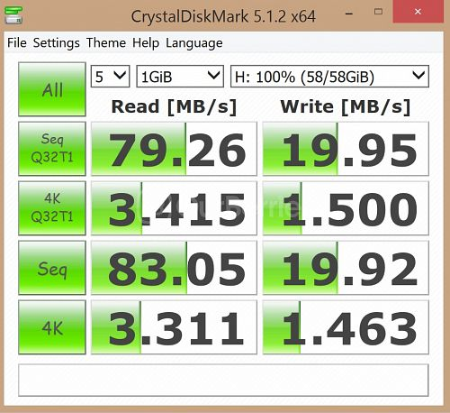 Kingston SDC10G2 microSDXC Updated CrystalDiskMark benchmark 3 - 5 x 1GB
