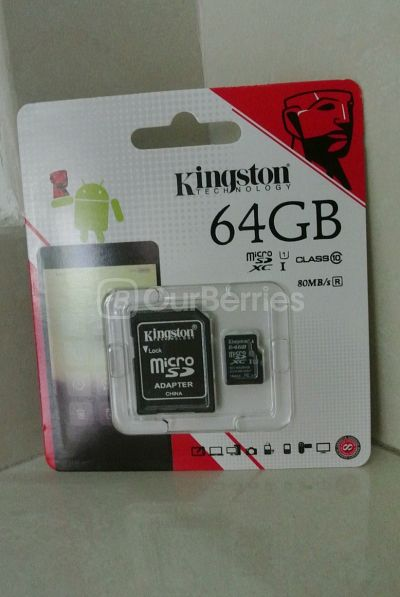 Kingston SDC10G2 microSDXC Retail Packaging