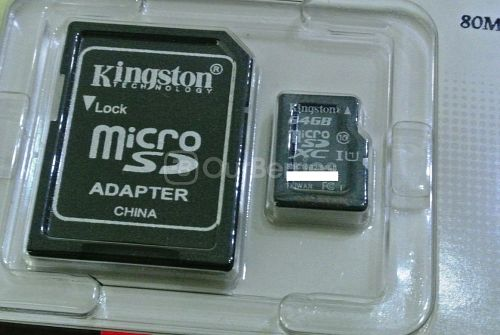 Kingston SDC10G2 microSDXC Retail Packaging Close Up