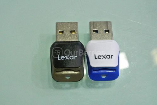 Lexar UHS-I VS UHS-II card adapter