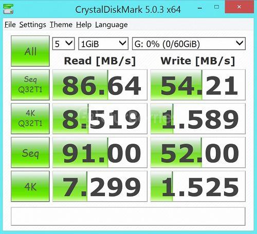 Lexar Professional 1000x MicroSDXC (64GB) latest CrystalDiskMark Test 3 - 5 x 1000MB