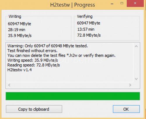 H2TestW for Strontium Nitro MicroSD