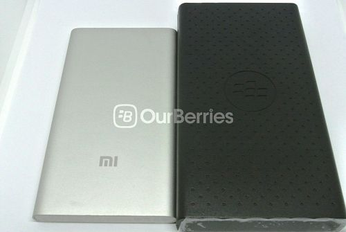 XiaoMi 5000mAh Powerbank next to the BlackBerry MP 12600