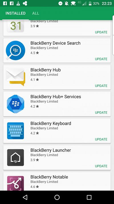 BlackBerry March-April 2017 Updates