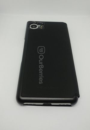 Full back look of the BlackBerry KEYone Official Flip Case