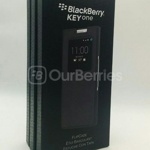 BlackBerry KEYone Official Flip Case Retail Box Front